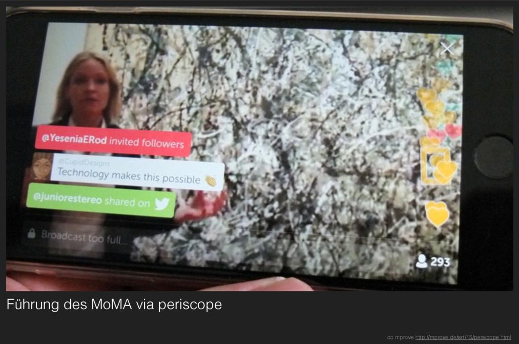 Führung des MoMA via periscope cc mprove http:/...