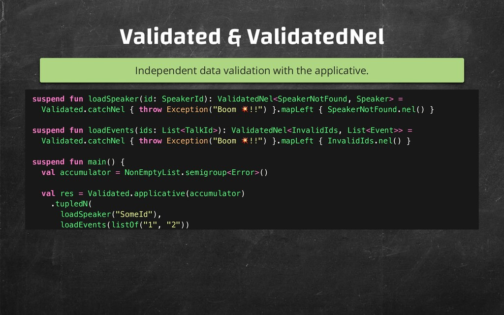 Validated & ValidatedNel Independent data valid...