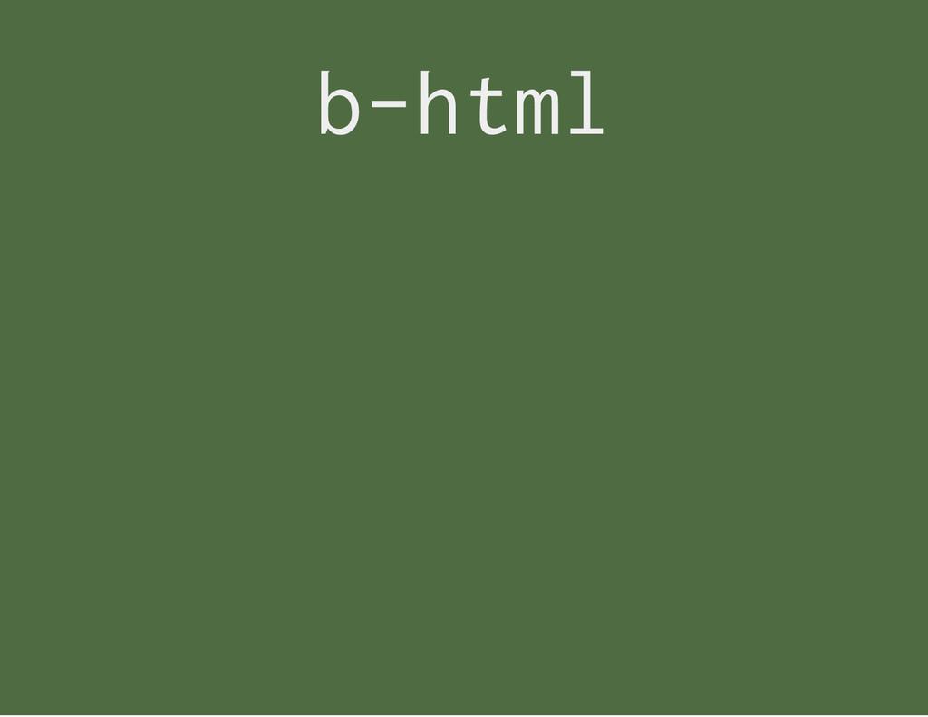 b - h t m l