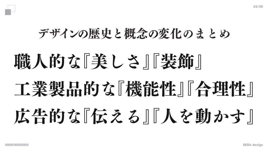 DERA-design 23/50 ৬ਓతͳ ʰඒ͠͞ʱ ʰ০ʱ ۀతͳ ʰػੑʱ ...