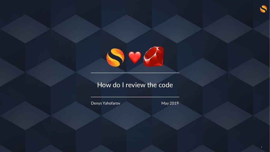 How do I review the code Denys Yahofarov May 20...