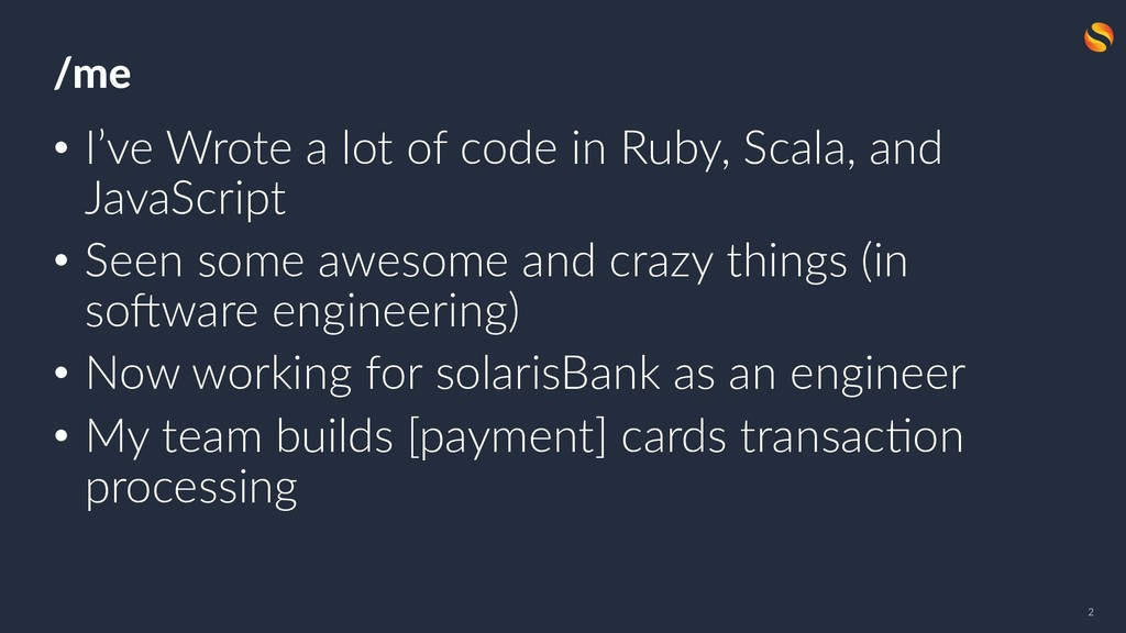 05.06 /me • I've Wrote a lot of code in Ruby, S...