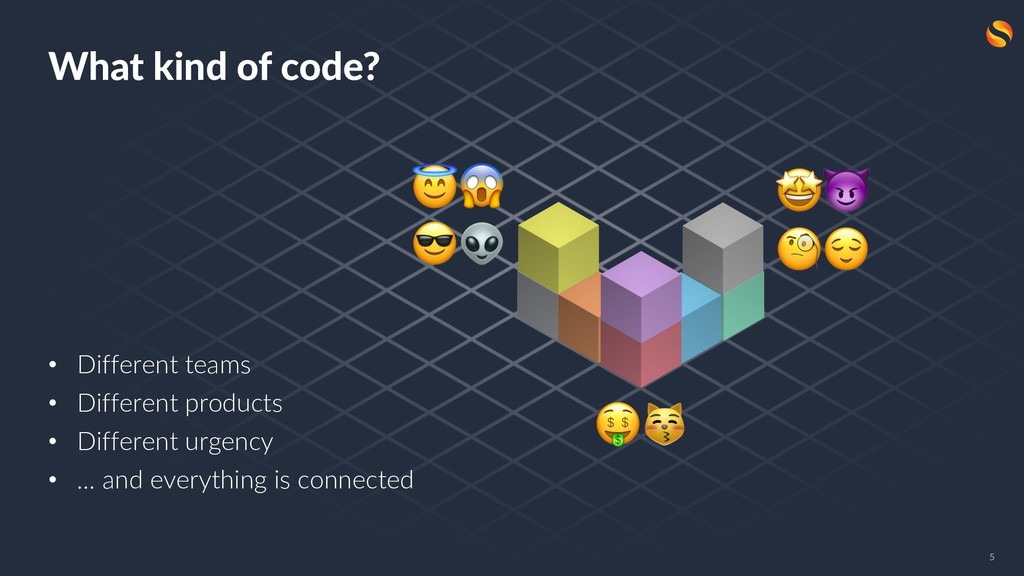 What kind of code? • Different teams • Differen...