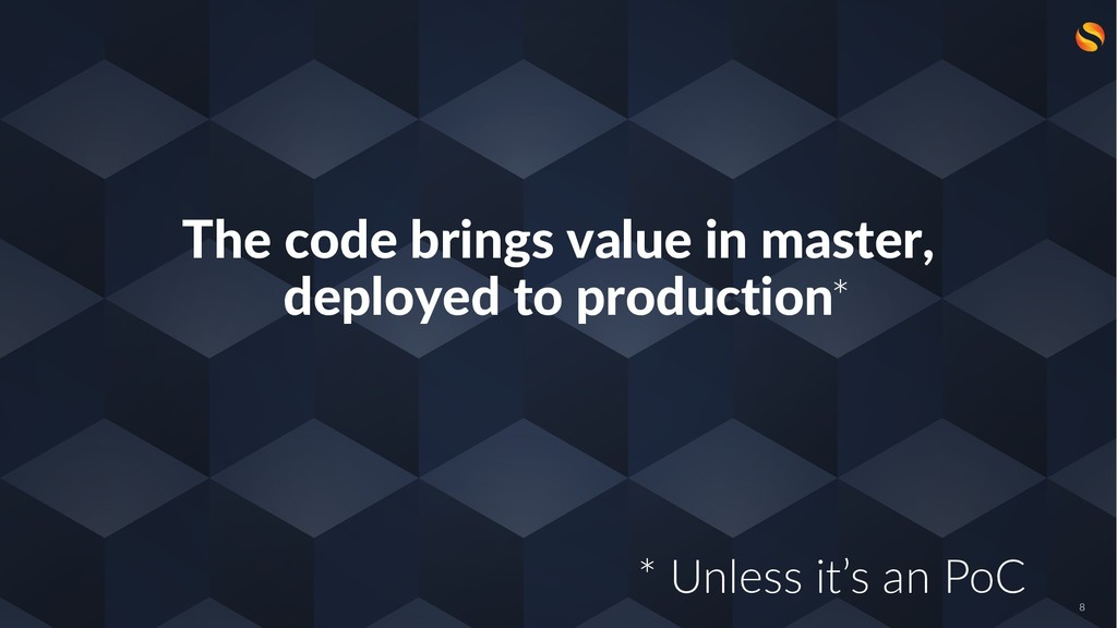 The code brings value in master, deployed to pr...