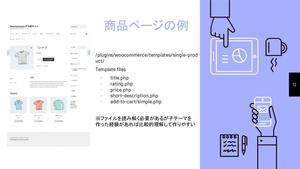 商品ページの例 /plugins/woocommerce/templates/single-p...