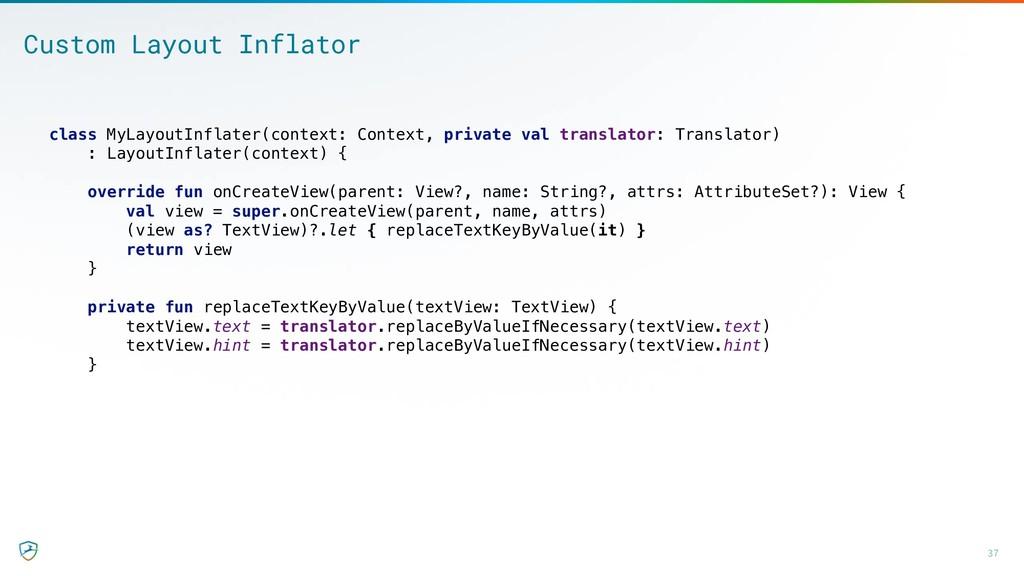 37 Custom Layout Inflator class MyLayoutInflate...