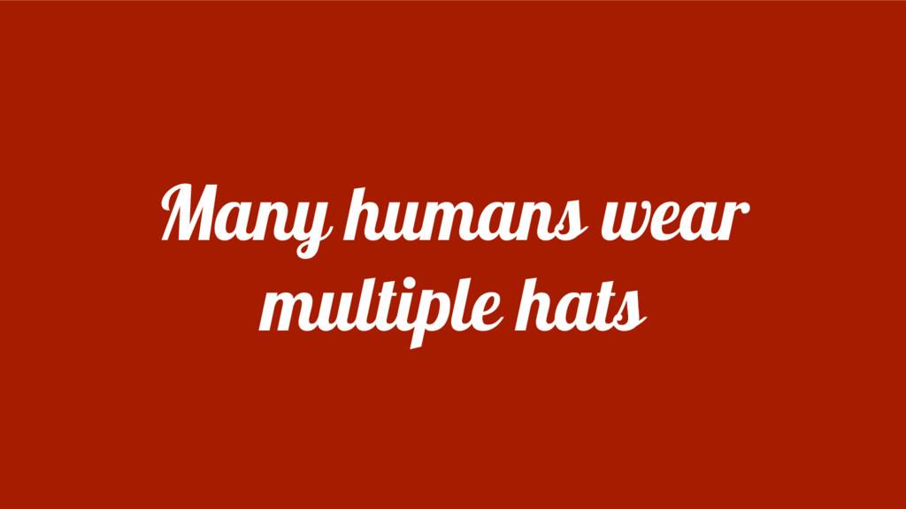 Many humans wear multiple hats