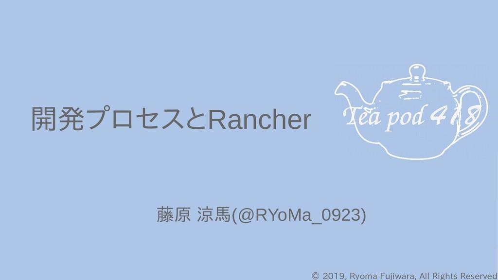 © 2019, Ryoma Fujiwara, All Rights Reserved 開発プ...