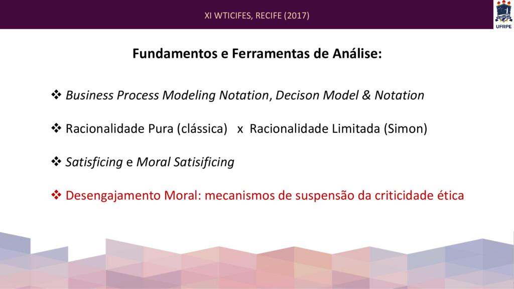 XI WTICIFES, RECIFE (2017) Fundamentos e Ferram...