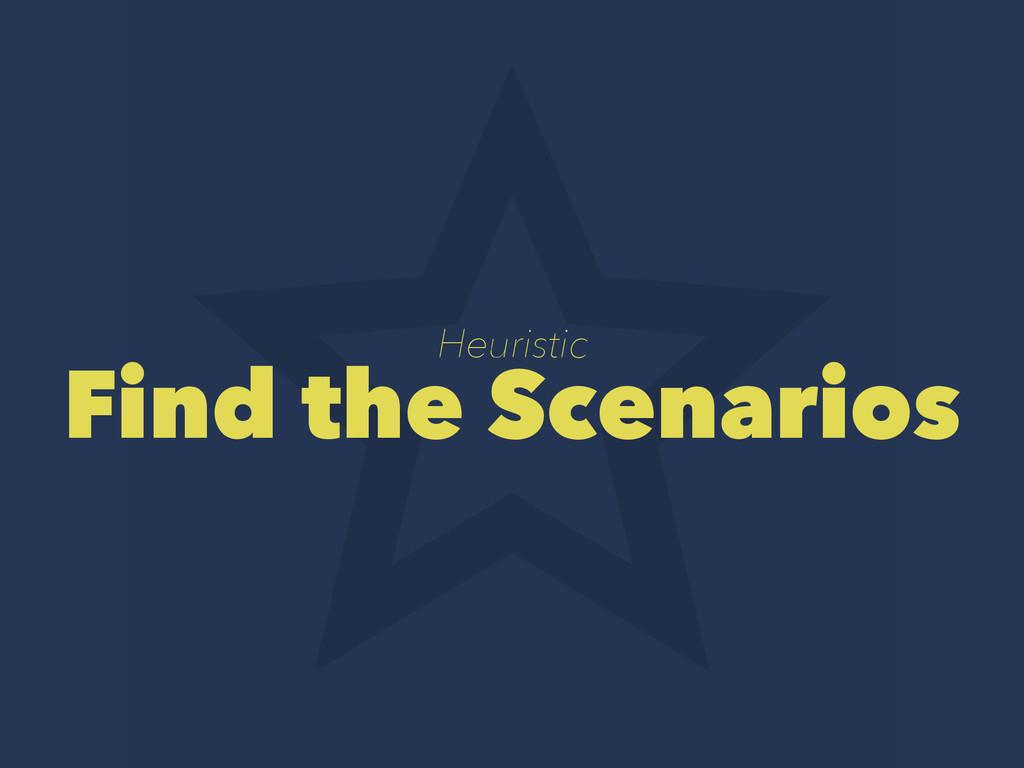 Heuristic Find the Scenarios
