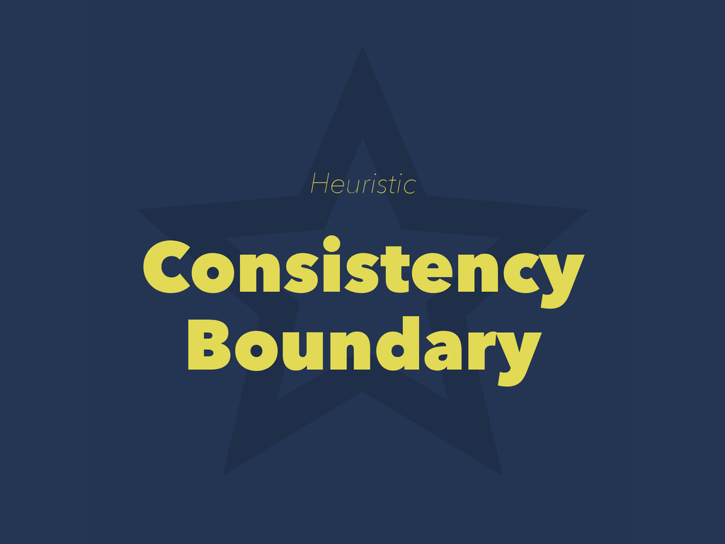 Heuristic Consistency Boundary