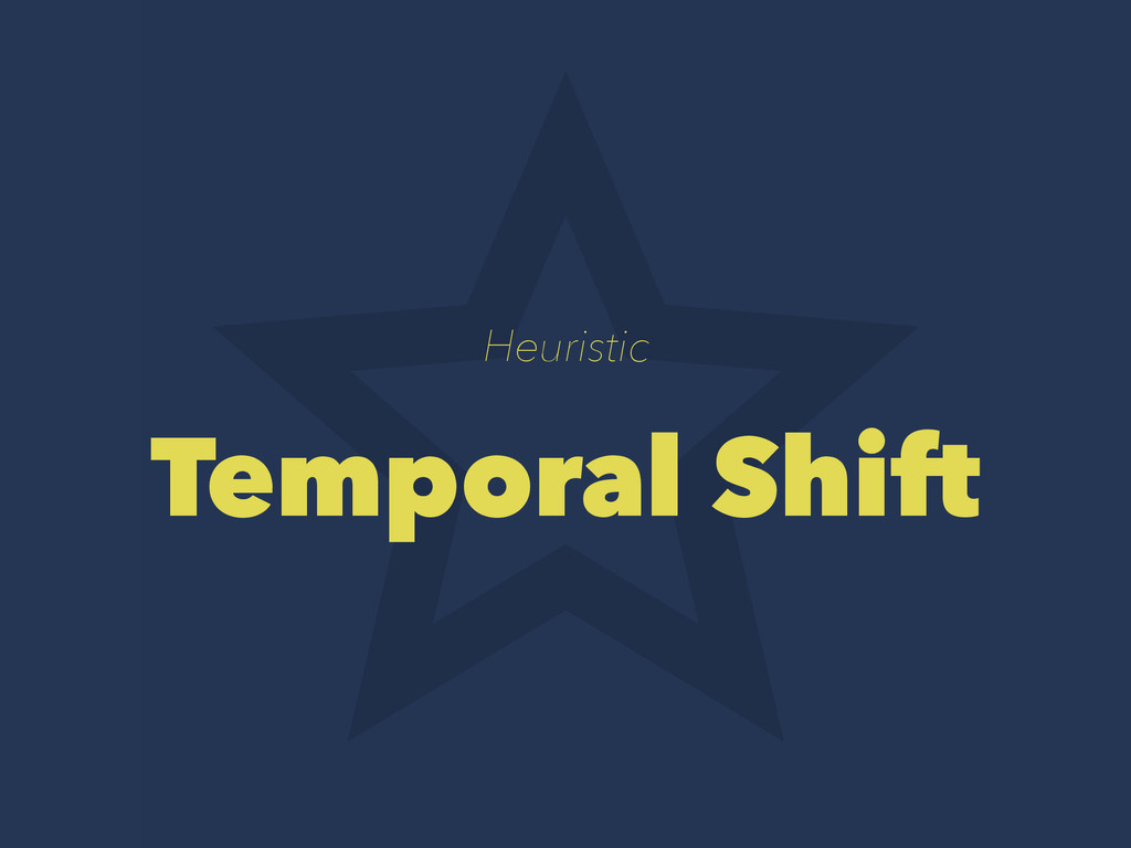 Heuristic Temporal Shift