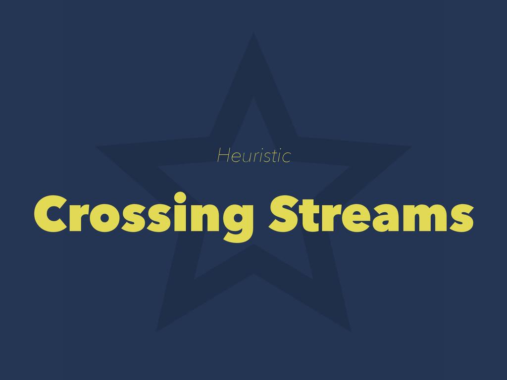 Heuristic Crossing Streams
