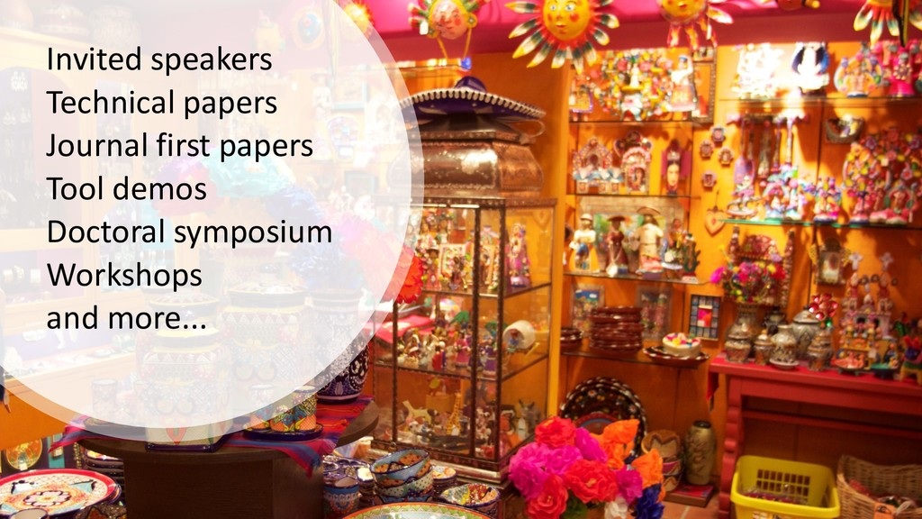 Invited speakers Technical papers Journal first...