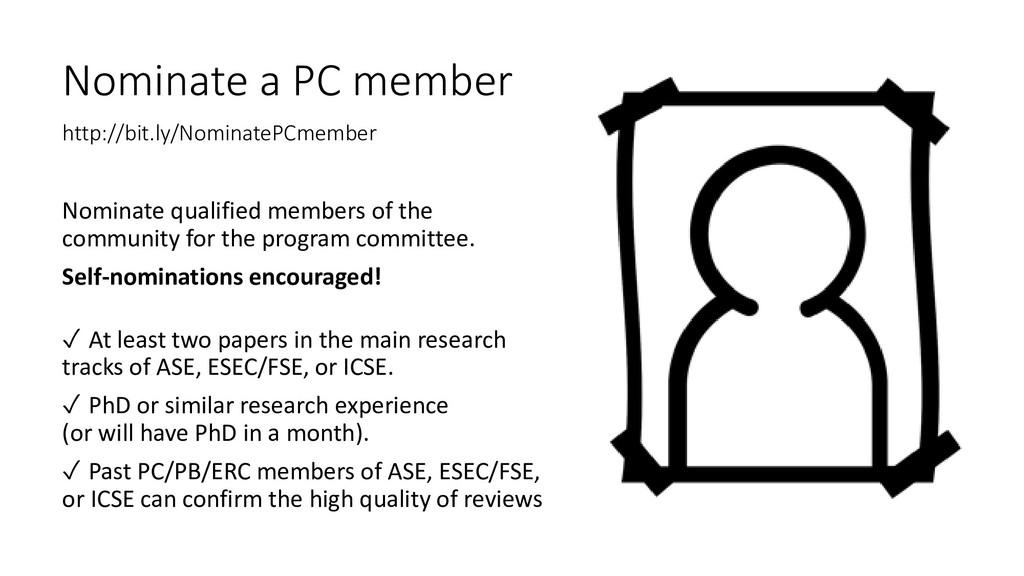 Nominate a PC member http://bit.ly/NominatePCme...