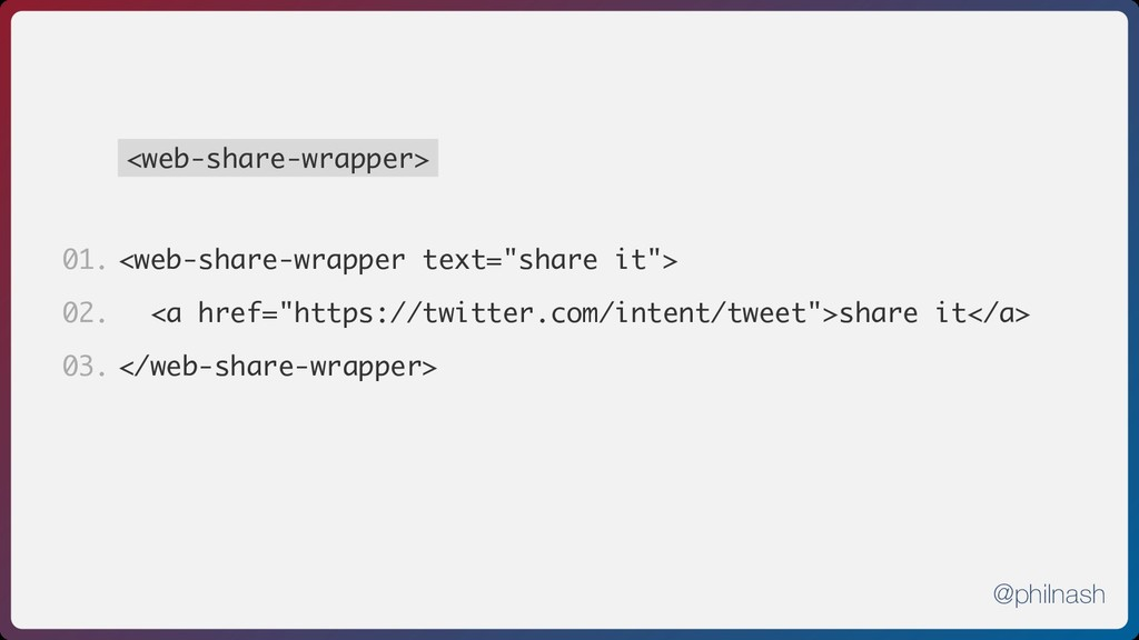 "<web-share-wrapper> <web-share-wrapper text=""sh..."