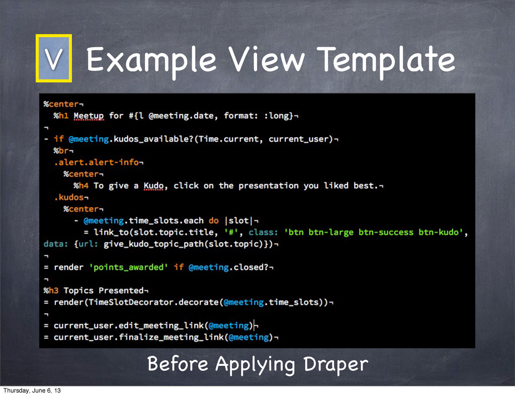 Example View Template Before Applying Draper V ...