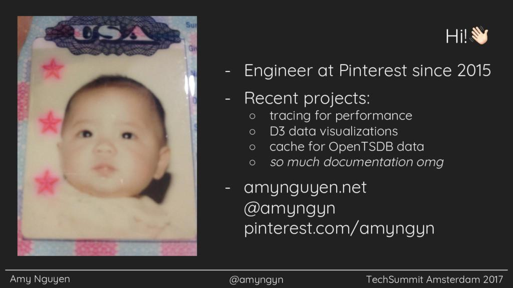 Amy Nguyen @amyngyn TechSummit Amsterdam 2017 H...