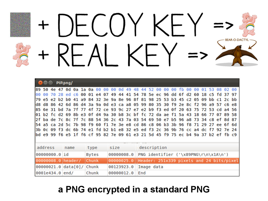 a PNG encrypted in a standard PNG