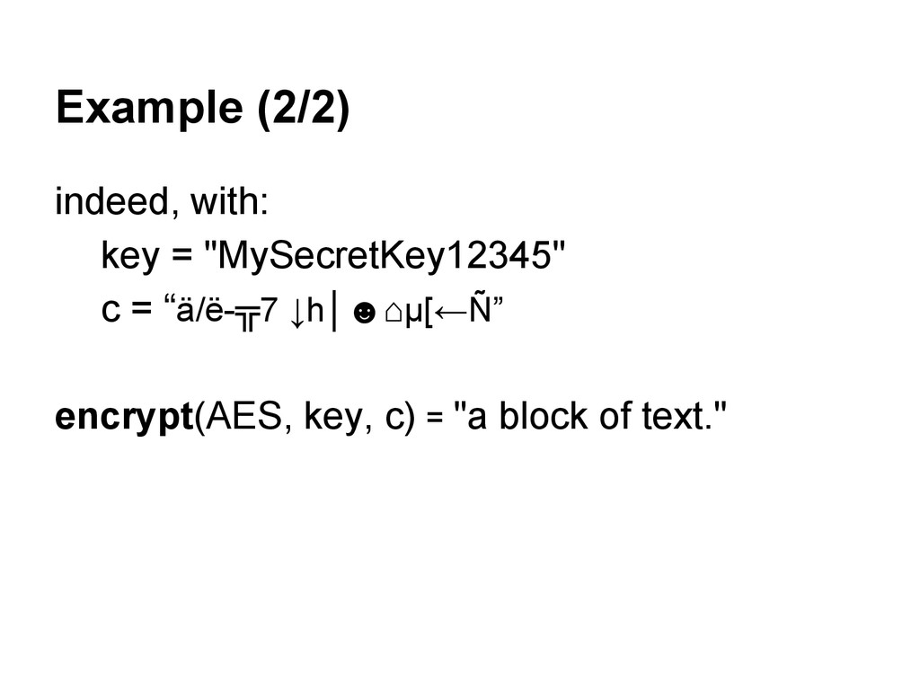 "Example (2/2) indeed, with: key = ""MySecretKey1..."
