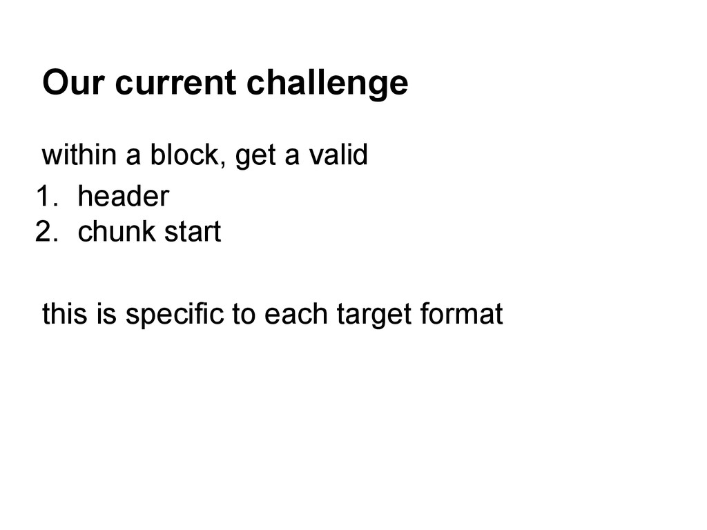 Our current challenge within a block, get a val...