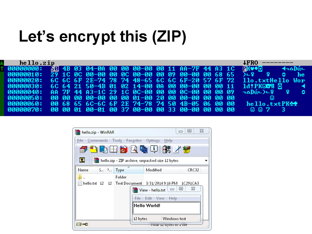 Let's encrypt this (ZIP)