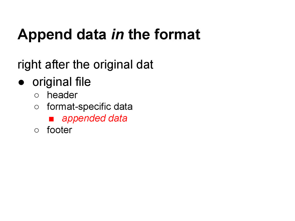 Append data in the format right after the origi...