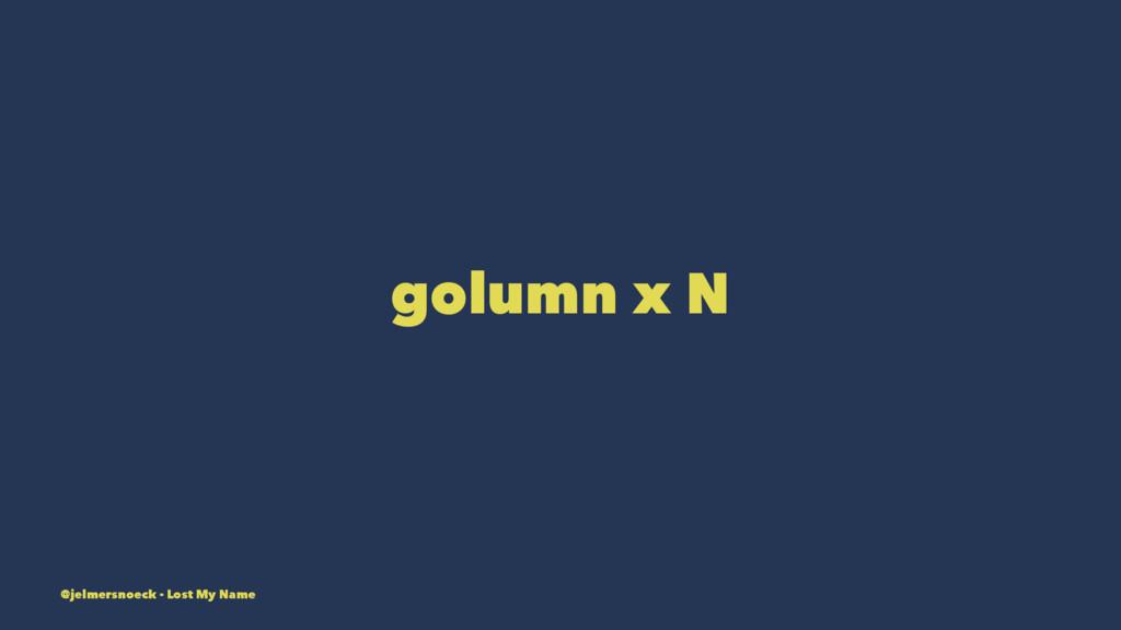 golumn x N @jelmersnoeck - Lost My Name