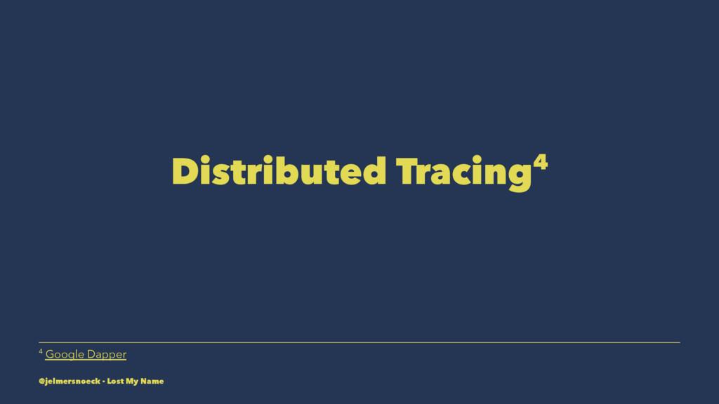 Distributed Tracing4 4 Google Dapper @jelmersno...