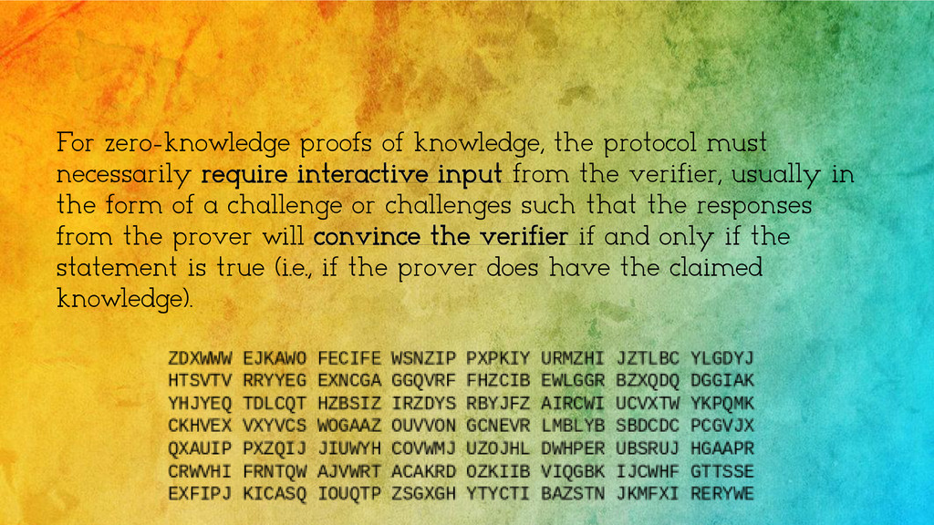 For zero-knowledge proofs of knowledge, the pro...