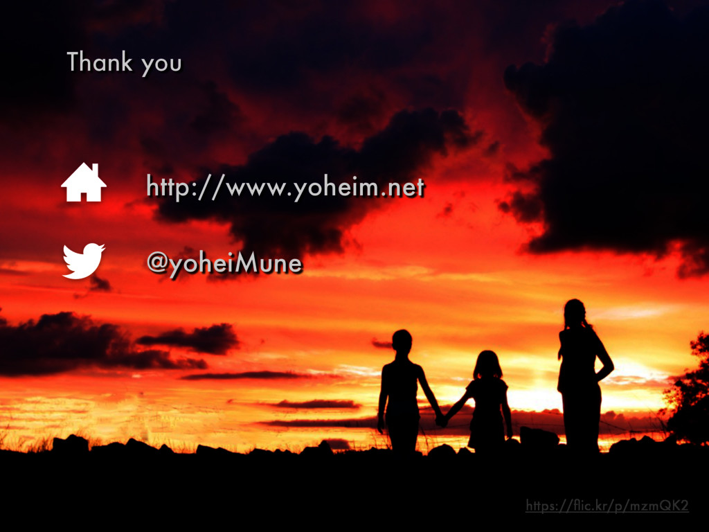 Thank you http://www.yoheim.net @yoheiMune http...