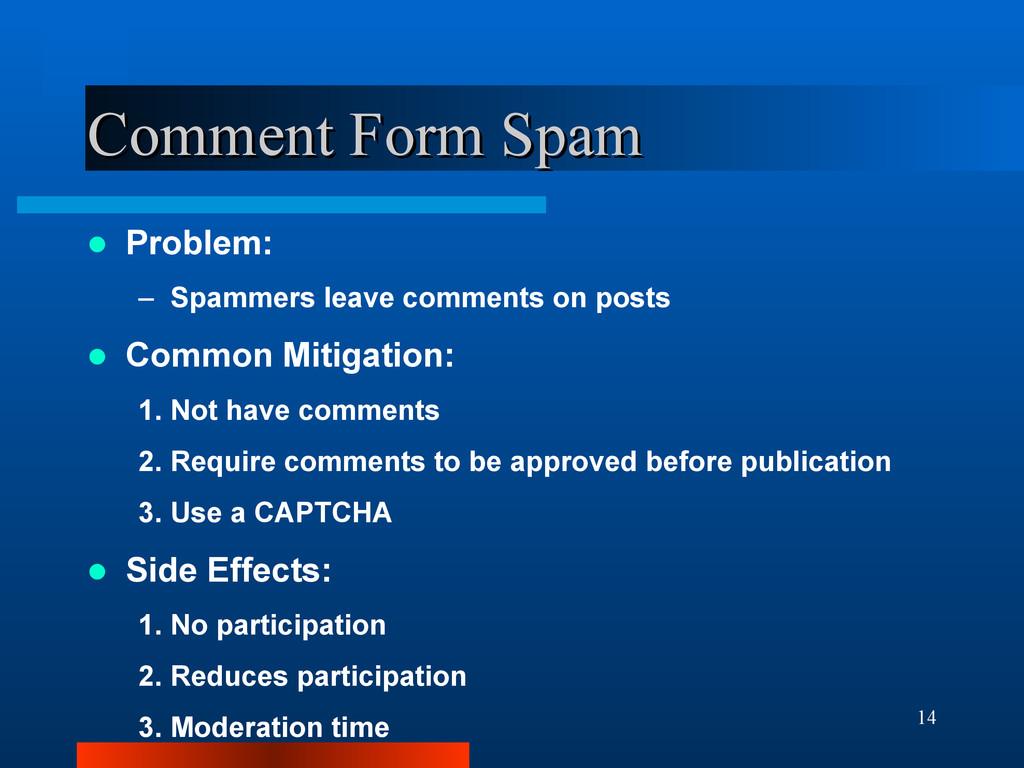 14 Comment Form Spam Comment Form Spam  Proble...