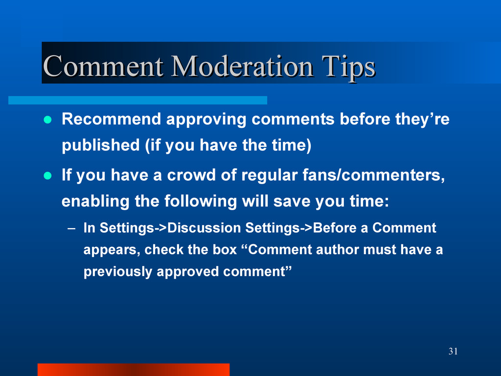 31 Comment Moderation Tips Comment Moderation T...