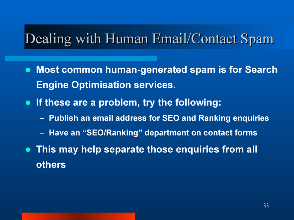 33 Dealing with Human Email/Contact Spam Dealin...