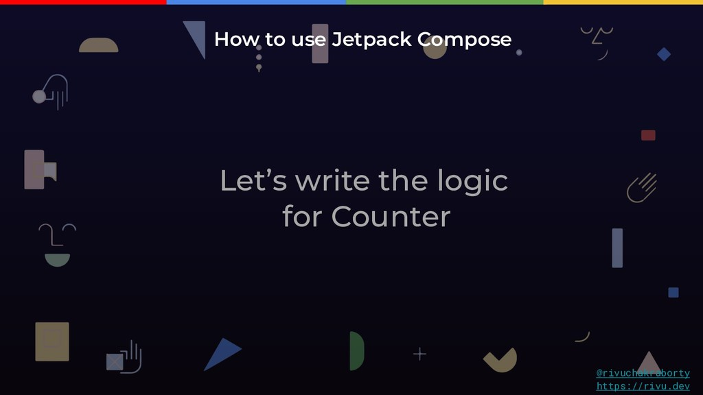 Let's write the logic for Counter How to use Je...