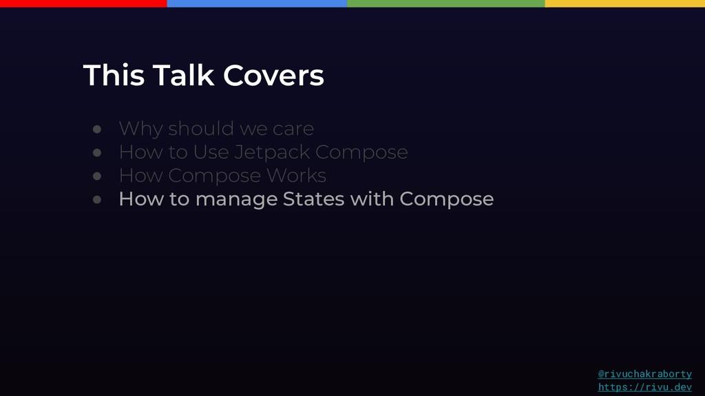 This Talk Covers @rivuchakraborty https://rivu....