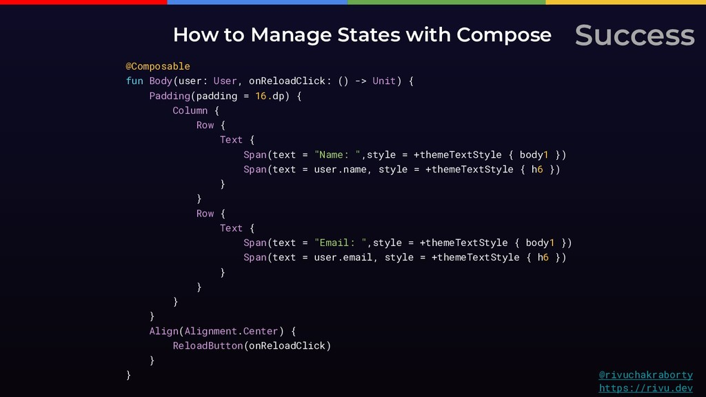 Success How to Manage States with Compose @rivu...