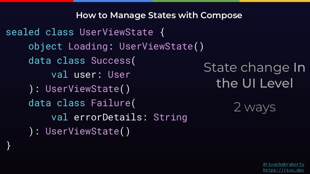 State change In the UI Level 2 ways How to Mana...
