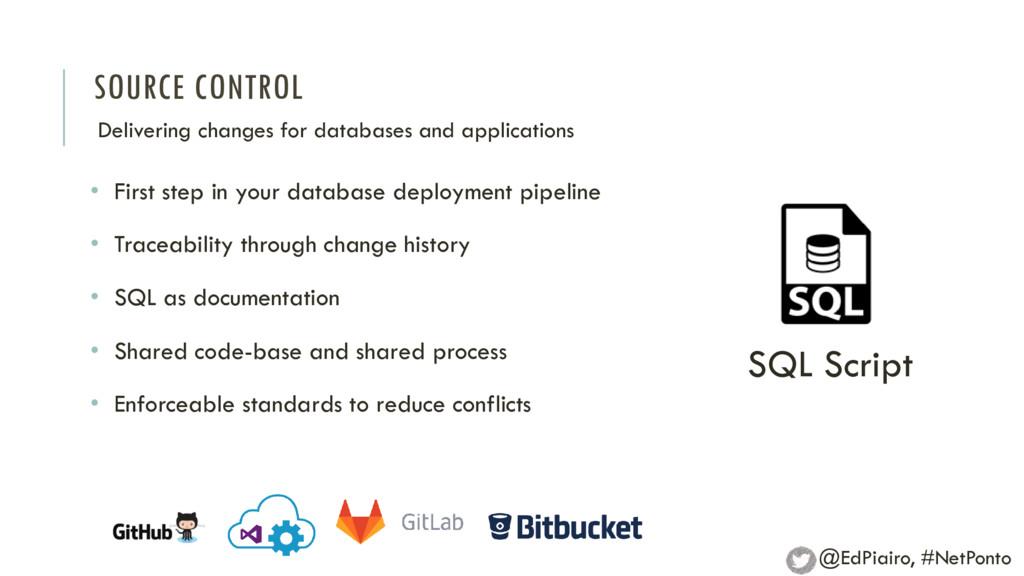 SOURCE CONTROL Delivering changes for databases...