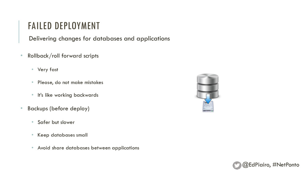 FAILED DEPLOYMENT Delivering changes for databa...