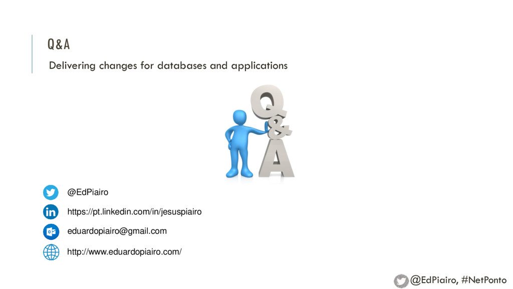 Q&A Delivering changes for databases and applic...