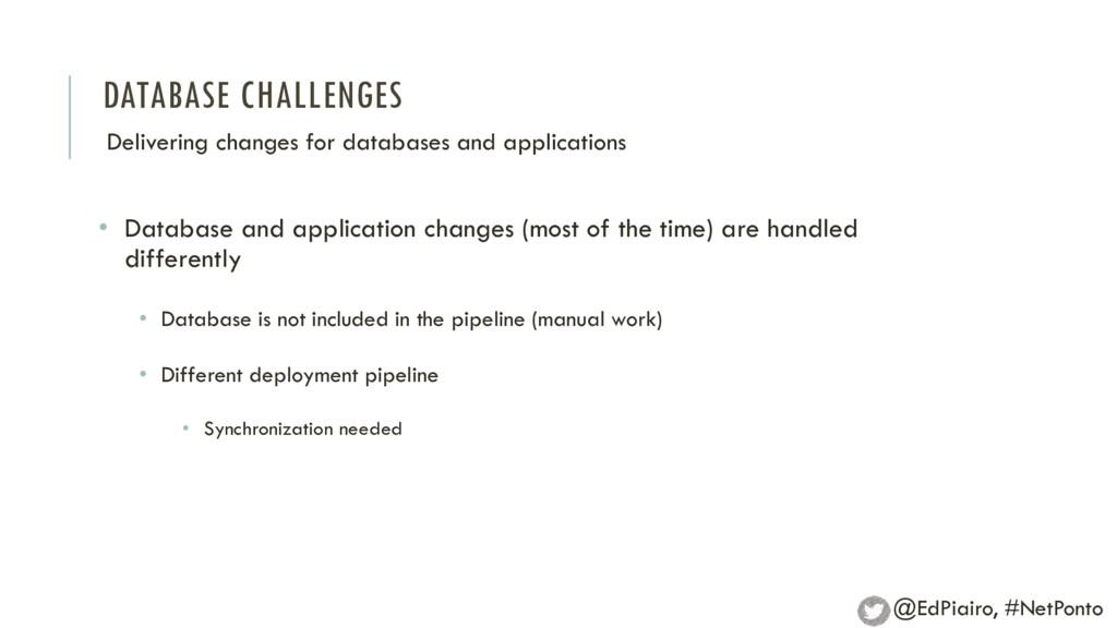 DATABASE CHALLENGES Delivering changes for data...
