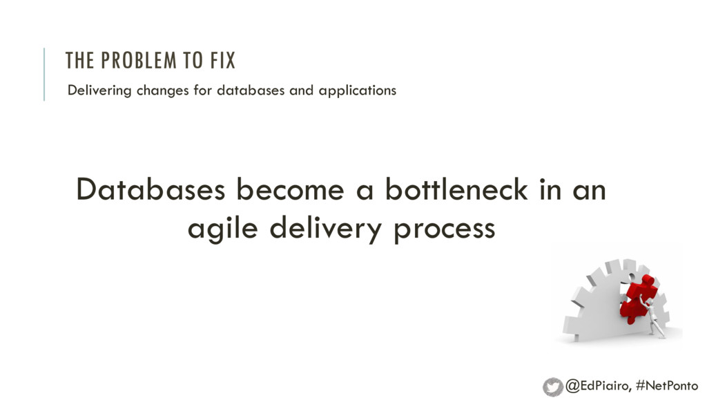 THE PROBLEM TO FIX Delivering changes for datab...