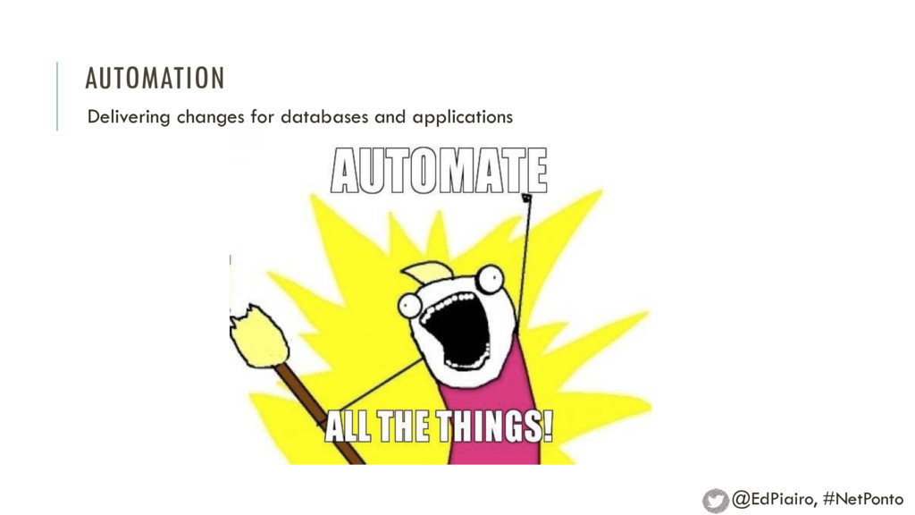 AUTOMATION Delivering changes for databases and...