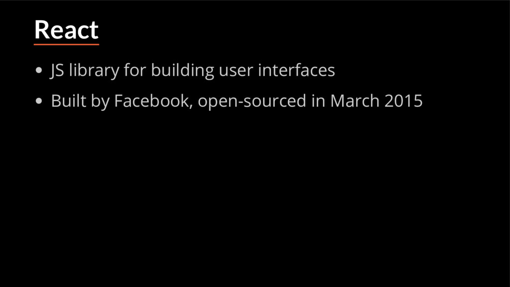 React JS library for building user interfaces B...