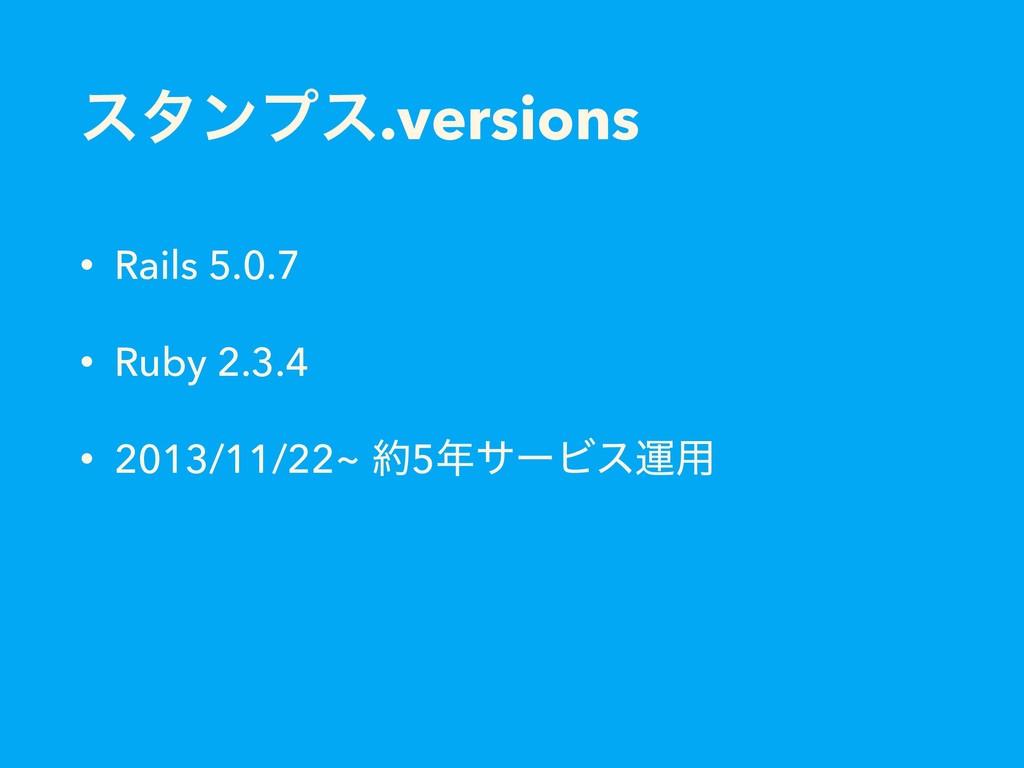 ελϯϓε.versions • Rails 5.0.7 • Ruby 2.3.4 • 201...