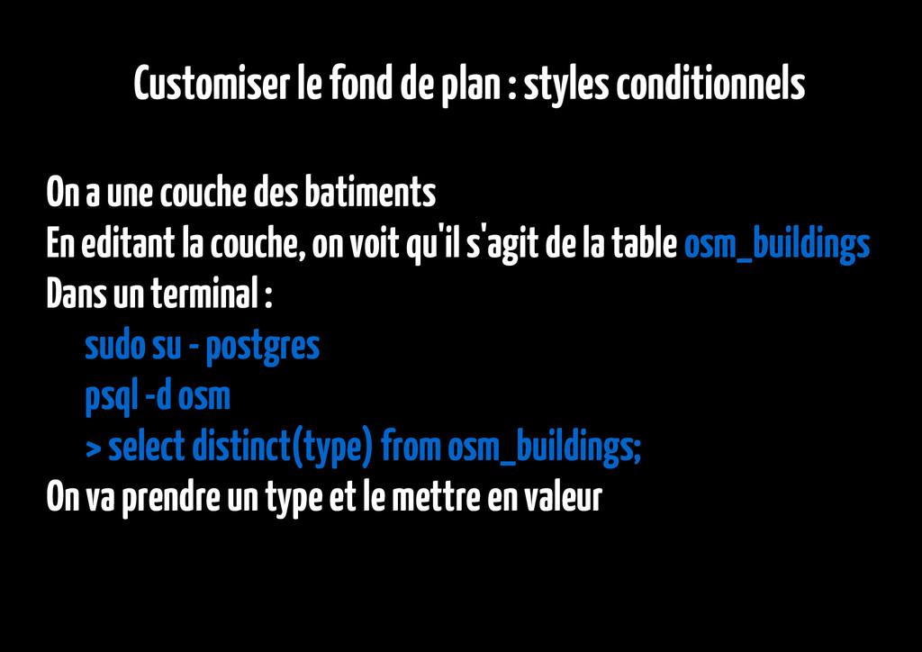 Customiser le fond de plan : styles conditionne...
