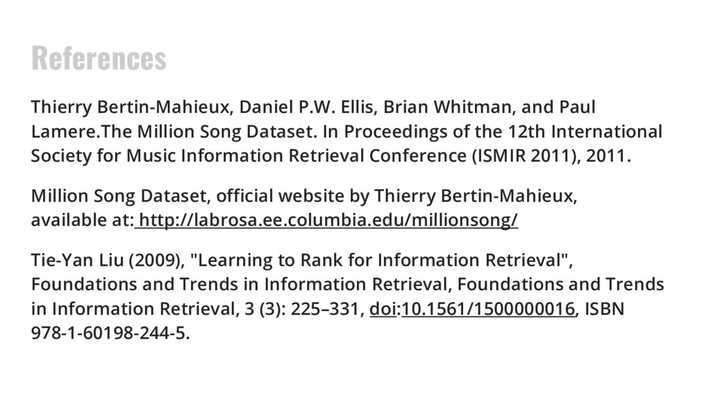 References Thierry Bertin-Mahieux, Daniel P.W. ...