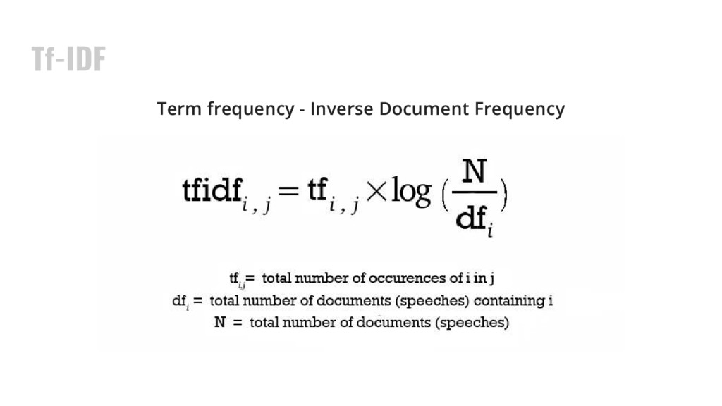 Tf-IDF Term frequency - Inverse Document Freque...