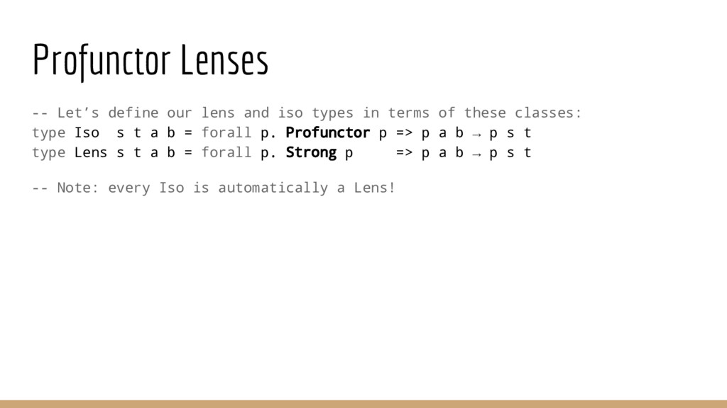 Profunctor Lenses -- Let's define our lens and ...